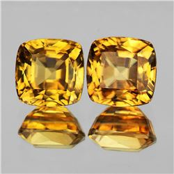 Natural Imperial Golden Yellow Zircon Pair - IF-VVS