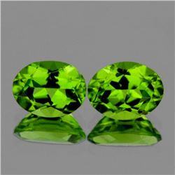 Natural AAA Green Peridot Pair{Flawless-VVS1}