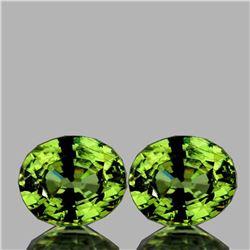 Natural AAA Fire Premium Green Demantoid Pair - FL