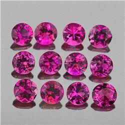 Natural Raspberry Red Pink Rhodolite Garnet 12 Pcs - FL