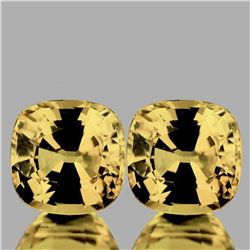 NATURAL GOLDEN ZIRCON Pair 6.00 MM [FLAWLESS]