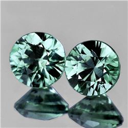 Natural Bluish Green Sapphire Pair (Flawless)Unheated