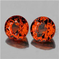 Natural Intense Orange Tourmaline Pair {Flawless-VVS1}