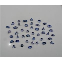 Genuine Tanzanite Mix Shapes 10 Carats