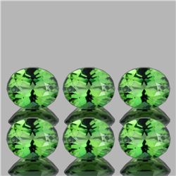 Natural chrome Green Apatite 6x5 MM - 6 Pcs - FL