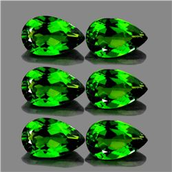 Natural AAA Chrome Green Diopside 6 Pcs -  FL