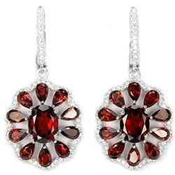 NATURAL DARK ORANGE RED GARNET Earrings