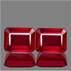 Natural AAA Fire Red Mozambique Ruby Pair