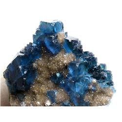 Natural Rare  Blue Fluorite Mineral Specimen
