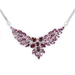 NATURAL PURPLE PINK RHODOLITE GARNET Necklace