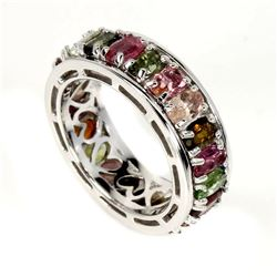 Natural  Multi-Color Tourmaline Ring