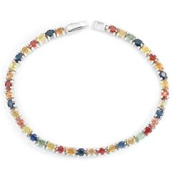Natural MULTI COLOR SAPPHIRE 62 Ct Bracelet
