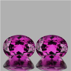 Natural Magenta Purple Rhodolite Garnet Pair 5.11 Ct