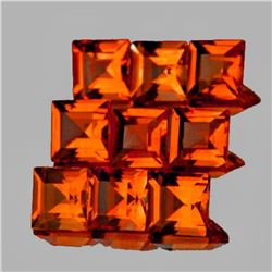 Natural Mandarin Orange Spessartite Garnet 9 Pcs{VVS}