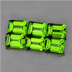 Natural AAA Green Peridot 7x5 MM 6 Pcs - FL