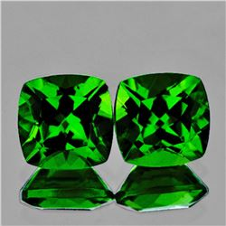 Natural AAA Chrome Green Diopside Pair {Flawless-VVS}