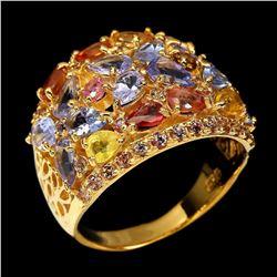 Natural  Tanzanite Tourmaline Sapphire Ring