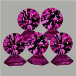 Natural Untreated Pink/Red Ruby 6 Pcs - Flawless