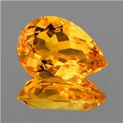 Natural Golden Orange Citrine 16.5x12 MM [Flawless-VVS]