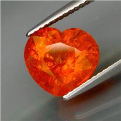 Natural Fanta Orange Spessartite Garnet Heart