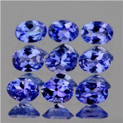 Natural  Purple Blue Tanzanite 9 Pcs