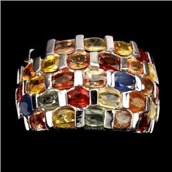 Natural  Fancy Colors Sapphire 57.98 Ct Ring