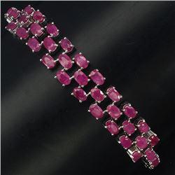 Natural Oval  Ruby 78 Carats Bracelet