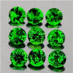 Natural Chrome Green Diopside 9 Pcs {Flawless-VVS}