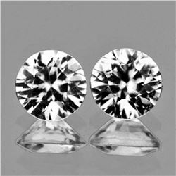 Natural Diamond Cut Cambodian White Zircon Pair