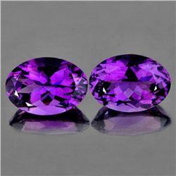 Natural Purple Amethyst Pair 14x10 MM {Flawless-VVS1}