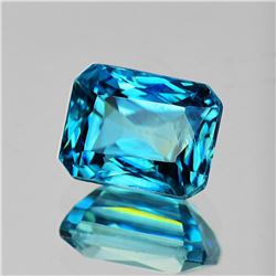 Natural Blue Zircon 3.08 Cts [Flawless-VVS]