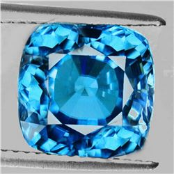 Natural AAA Seafoam Blue Zircon 2.96 Cts{Flawless-VVS1}