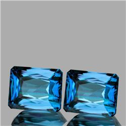 Natural AAA Seafoam Blue Zircon Pair{Flawless-VVS1}