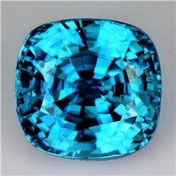 Natural AAA Seafoam Blue Zircon 3.87 Cts{Flawless-VVS1}