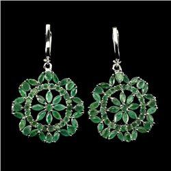 Natural  Marquise Zambian Green Emerald Earrings