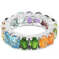 Natural Opal & Multi Gem Eternity Band