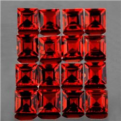 Natural Red Mozambique Garnets 50 Pcs{Flawless-VVS1}