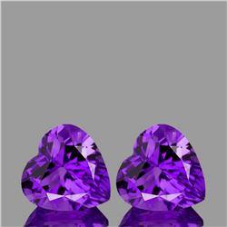 Natural Purple Amethyst Heart Pair {Flawless-VVS1}