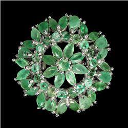 Natural Zambian  Green Emerald  Ring