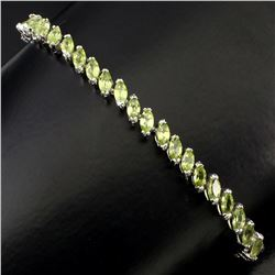 Natural Marquise Peridot 72.95 Cts Bracelet