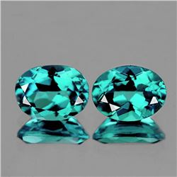 Natural Paraiba Green Blue Apatite Pair - FL