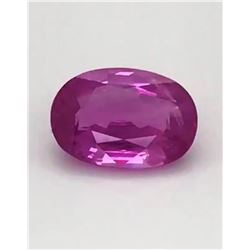 Natural Untreated Burma Pink Sapphire - Grs Certified