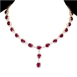 Genuine Pigeon Blood Red Ruby Necklace