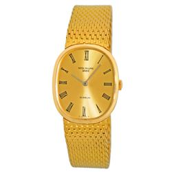 "Patek Philippe 18k Gold Gübelin ""Golden Ellipse"" Watch"