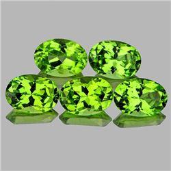 Natural AAA Green Peridot 7x5 MM{Flawless-VVS1}