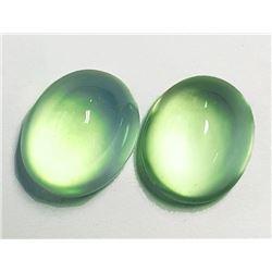 Natural Top Green Prehnite Pair(Flawless-VVS)