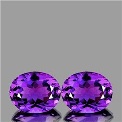 Natural Purple Amethyst Pair 11x9 MM{Flawless-VVS}
