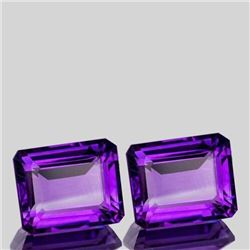 Natural Premium Quality Amethyst Pair  [Flawless-VVS]