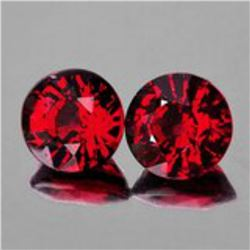 Natural AAA Burma Red Spinel Pair {Flawless-VVS1}