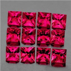 Natural Untreated Burma Ruby 12 Pcs - VVS